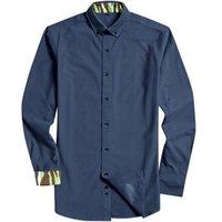 Grevol Новое поступление мужской с длинным рукавом фланелью рубашка воротника с длинным рукавом сплошные умные повседневные рубашки мужской социальный бизнес рубашка QS1