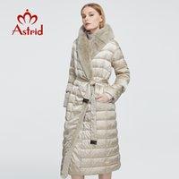 Astrid Yeni Kış kadın Ceket Kadınlar Uzun Sıcak Parka Ceket Tavşan Kürk Hood Büyük Boyutları Ile Kadın Giyim Tasarım ZR-7518 210203