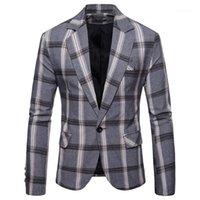 Erkek Takım Elbise Blazers Padegao Marka Güz ve Kış 2021 erkek Moda Eğlence İş Tarzı Kareli Takım Tek Sıralı Tek-Düğme Jack