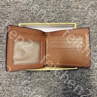 louis vuitton LV Париж плед стиль мужской бумажник мужской моды кошелек специальный холст несколько короткий небольшой бумажник с Двойные коробки A3