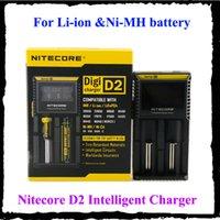 100% Nitecore D2 Universal-Ladegerät für 18650 16340 26650 14500 22650 18490 18350 Batterie-LCD-Anzeige
