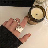 여성 남성 오목 볼록 기하학적 보석 선물 S-R806 수제 불규칙한 폭 표면 열기 손가락 반지