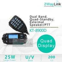 Walkie Talkie 25W Quad Band QYT KT-8900D Voiture mobile 4 136-174MHz / 400-480MHz Mise à niveau KT8900 10 km BJ-218 BJ-318