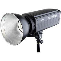 Lampeggia GODOX SL-200W 200WS 5600K Versione bianca Pannello LCD Pannello LED Video Light Estate continuo Bowens Mount Studio Light1