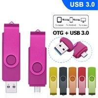 사용자 정의 로고 USB 플래시 드라이브 3.0 OTG 펜 드라이브 32기가바이트 Pendrive는 USB 스마트 폰에 대한 스틱 4기가바이트 8기가바이트 16기가바이트 64기가바이트 / PC