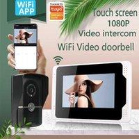 Video-Door-Telefone Touch 7 Zoll Wifi Smartphone Intercom-System mit 1080p AHD verdrahtet Türklingelkamera Home Security Record Remote Unlock1