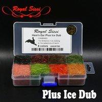 8 Цветов Диспенсеров HARE's Har Dubbing Plus Ice Beggy Nymph Fly Fly Blaby Связывание Материалы Чехия Scud Sparkle Spiky Dub 201104