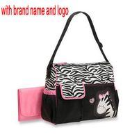 Или 2H25J мумия подгузник для животных сумка подгузник Zebra Giraffe мода многофункциональный мать Индонаментные мешки сумка Baby 6597 Babyboom RWNSL