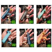 애니메이션 악마 슬레이어 키 체인 귀여운 Brinco 블레이드의 유령 열쇠 고리 코스프레 펜던트