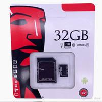 2020 En çok satan 64 GB 128 GB 256 GB C10 TF Flaş Bellek Kartı U1 U3 Ücretsiz SD Adaptörü Perakende Paketi