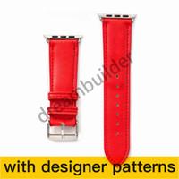 Moda Watchbands Apple Watch Band 42mm 38mm 40mm 44mm IWATCH 1 2 345 Bantlar Deri Kayış Bilezik Moda Stripes Ücretsiz Kargo