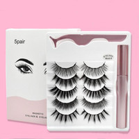 NEW Magnetic Liquid Eyeliner Magnetic False Eyelashes & Twee...