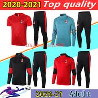 20 21 AC milan IBRAHIMOVIC Piatek Paquetá Futebol agasalho jaqueta survêtement 2020 2021 THEO KAKA CALHANOGLU AC treino de futebol corrida terno