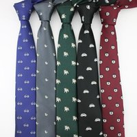 La MaxPa Мужского полиэстер Tie мультфильм животные Cat Duck Велосипед Тканые 6CM костюм Ограниченного Тонких шеи галстук для бизнеса-Groom шейного подарок