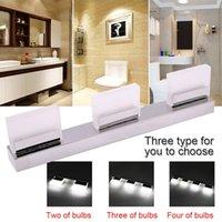 현대 방수 거울 벽 빛 주도 욕실 3 조명 LED 크리스탈 램프 9W 북유럽 아트 장식 실버 조명