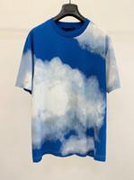 20ss النسخة الأعلى السماء باريس تي شيرت عارضة أزياء الرجل القمصان