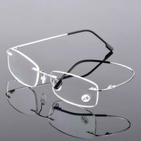 Super Elastic Titanium Brillengestell Männer Randlos Brillen Computer-Verordnungs-optische Brillen Ultra klare Linse Gläser