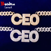 Custom Name Baguette Letter With 10MM Cuban Chain Silver Color Material Copper Cubic Zircon Hip Hop Rock Street Necklace Double Button