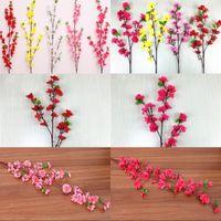 Estilo Corto Largo decoración de la boda flores artificiales flor de cerezo Árboles de interior suministros índice partido secas rama de la flor 2 G2 49HR