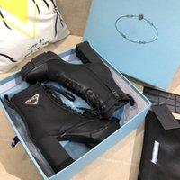 2020 Новый конструктор из кожи и нейлона ткани пинетки Женщины Ботильоны кожаные байкерские ботинки Австралии пинетки Зимние сапоги размер Eur 35-41