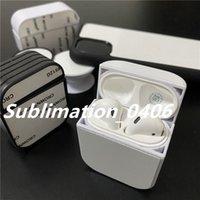 Airpod estojo com cola e folha de alumínio para 2D sublimação de impressão de calor impressão DIY design personalizado para iphone x 12 mini 11 max
