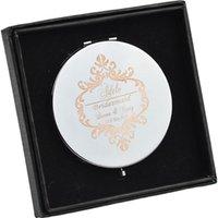 Fête préférée #jz cadeau de demoiselle d'honneur personnalisé pliable bureaux de beauté compact miroir miroir douche de mariée
