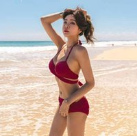 Bikini Swimsuit women' s Korean ins style fake sexy band...