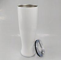 30 oz süblimasyon vazo şekli bardak paslanmaz çelik su şişesi vakum yalıtımlı su bardağı spor açık havada seyahat bardak kahve kupalar
