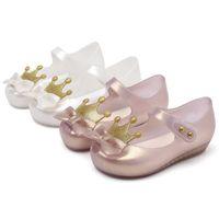 Mini Melissa Yeni Kız Jöle Sandalet Taç Yaz Sandalet Melissa Çocuk Sevimli Sandalet Plaj Ayakkabı Toddler Ayakkabı 13-18 cm Y200619