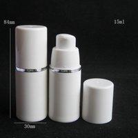 15ml 30ml 50ml de alta qualidade branco bomba airless garrafa -Travel recarregável cosmético cuidado cuidado creme lotion lotion recipiente de embalagem DWF3936