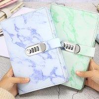 Mot de passe Notebook Texture de marbre 100 feuilles Diary Personal avec code de verrouillage Épais Nombre de Note de Bureau School Fournitures de bureau1