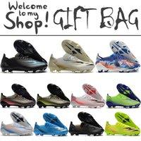 X Ghosted.1 FG Soccer Football أحذية أحذية للرجال الشمبانيا أبيض أسود أزرق أخضر وردي مدربون كرة القدم المرابط كرة القدم