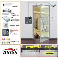 Kit de système de contrôle d'accès à l'empreinte RFID digital RFID Kit de lunettes en bois Set de porte d'identité de verrouillage magnétique Eletric Fournisseur d'alimentation