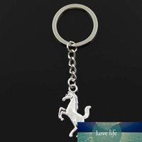 جديد أزياء المفاتيح 35x21 ملليمتر الحصان حصان محدود المعلقات diy الرجال الفضة اللون سيارة مفتاح سلسلة حلقة حامل تذكارية للهدايا