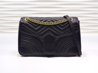 الكلاسيكية أعلى جودة 5A 443496 حقائب الأزياء ماركينت شيفرون حقيبة الكتف المخملية، والأجهزة الذهبية العتيقة، بطانة الحرير حجم 31-19-7 سم