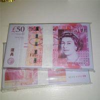 Bills pour enfants Money Lptwe accessoires accessoires Jouets britanniques Voiture Jouer 50 livres Bar Pooins Banknotes Qualité Best Toys Lmeid