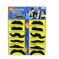 Бесплатная доставка по DHL 12 шт. / Установить костюм вечеринка Хэллоуин Поддельные усы Усы смешные поддельные BE WMTSWY SPORTS2010