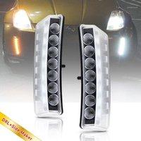 Luce del riflettore del paraurti LED per 350Z Z33 03-05 LED bianco DRL Dayitme in esecuzione + Indicatore del segnale di direzione ambra Lampada 1