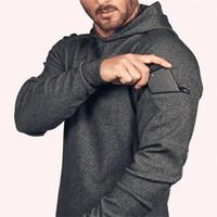 Sweats à capuche de couleurs solides lâches Asrv Mens Running Sports Pullover 2020 Automne Nouveau Sweat-shirt à capuche pour Hommes Étranger choses Headie Man Q1222