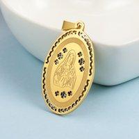 La religion chrétienne en acier inoxydable La Vierge Mary Catholic Collier Saint Collier creux Couper la mère de Dieu Madonna Pendentifs