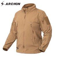 S.Archon Ropa Nueva chaqueta de otoño Abrigo Hombres Ropa militar Táctica Ejército EE.UU. Ejército transpirable Nylon Light Outwear Windrooker 201123