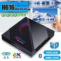 H96 Max Android TV Box 10.0 Allwinner H616 4 Go + 32 Go / 64 Go 6K double Wifi 2.4G5G soutien BT4.0 PK T95 X96 mini