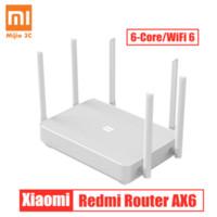 جديد Xiaomi Redmi Router AX6 WiFi 6 Qualcomm 6-Core 2.4G / 5G 512MB شبكة التوجيه اللاسلكية شبكة wifi مكرر 6 الهوائيات عالية مكاسب