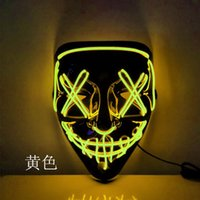 Role-Playing LED Light Mask Halloween In Dark Luminescent DJ Party Up Masks Masks Colors Halloween Glow 10 Costume To Choose WWW Efbfw