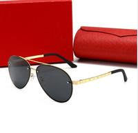 2020 جديد مصمم الأزياء نظارات عالية الجودة ماركة الاستقطاب عدسة نظارات الشمس نظارات للنساء النظارات إطار معدني مع صندوق