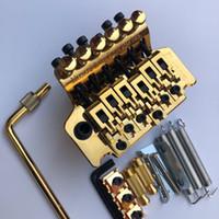Ibanez 6 String Double Shake Pull String Plate Bridge Tremolo System Goldene Hardware für E-Gitarre, Freies Verschiffen