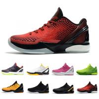 Nike Kobe Bryant Mode BHM Proto 6 Chaussures De Basket-ball Pour Hommes 6s Pensez Rose Noir Del Sol Grinch Hommes Baskets Baskets De Sports De Plein Air 40-46