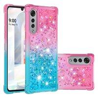 Quicksand Bling Liquid Cases Gradient Glitter Shockproof Case For LG K40 Stylo 4 5 6 7 4G 5G Aristo 2 W10 W30 K31 K51 Velvet Google Pixel 3A XL