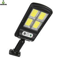 100cob 128cob 태양 가로등 야외 벽 램프 보안 빛 방수 PIR 모션 센서 원격 제어 램프
