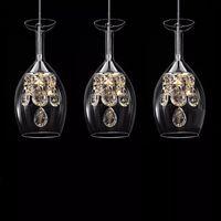 Современная мода и столовая кристалл K9 5w LED Люстра DIY украшения дома гостиная прозрачного стекло вино чашка дизайн освещение